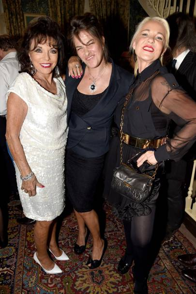 Joan Collins, Tracey Emin and Amanda Eliasch