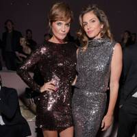 Helena Christensen and Cindy Crawford at Tom Ford