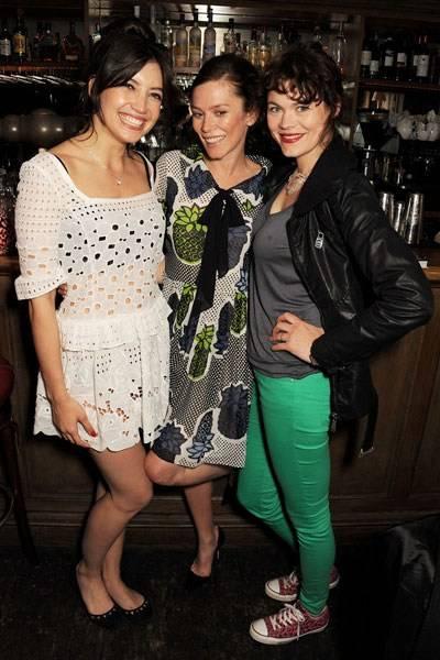 Daisy Lowe, Anna Friel and Jasmine Guinness