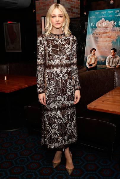 Carey Mulligan at the 'Wildlife' New York premiere.