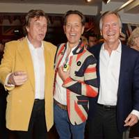 Theo Fennell, Richard E. Grant and Charles Delevingne
