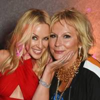 Kylie Minogue and Jennifer Saunders