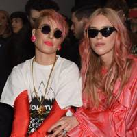 Noomi Rapace and Lady Mary Charteris at Matty Bovan A/W18