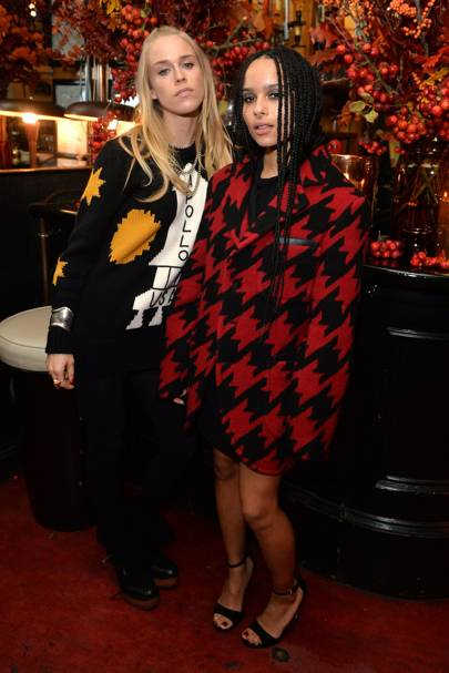 Mary Charteris and Zoe Kravitz