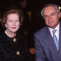 Baroness Thatcher and Martyn Lewis