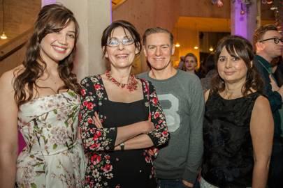 Daisy Lowe, Nicola Shulman, Bryan Adams and Alexandra Shulman