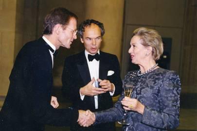 Nicholas Serota, Francis Russell and Baroness d'Anglejan