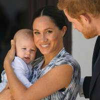 Archie Mountbatten-Windsor with the Duke and Duchess of Sussex