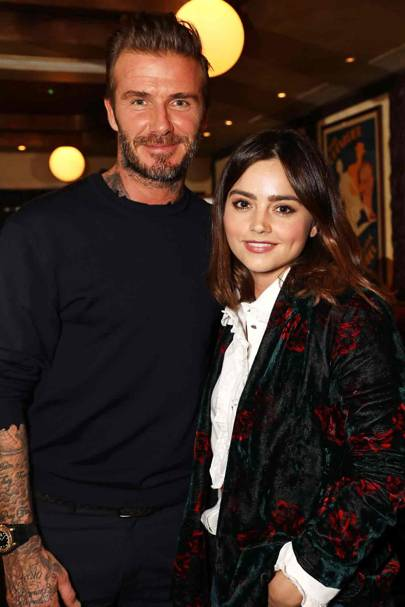 David Beckham and Jenna Coleman