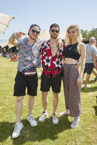 Joe Cole, Kyle Soller and Vanessa Kirby