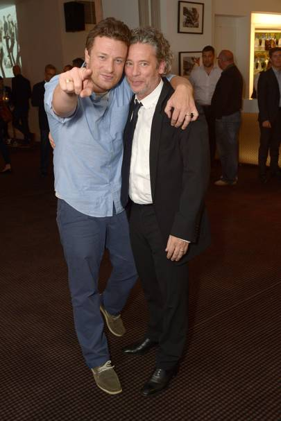 Jamie Oliver and Dexter Fletcher