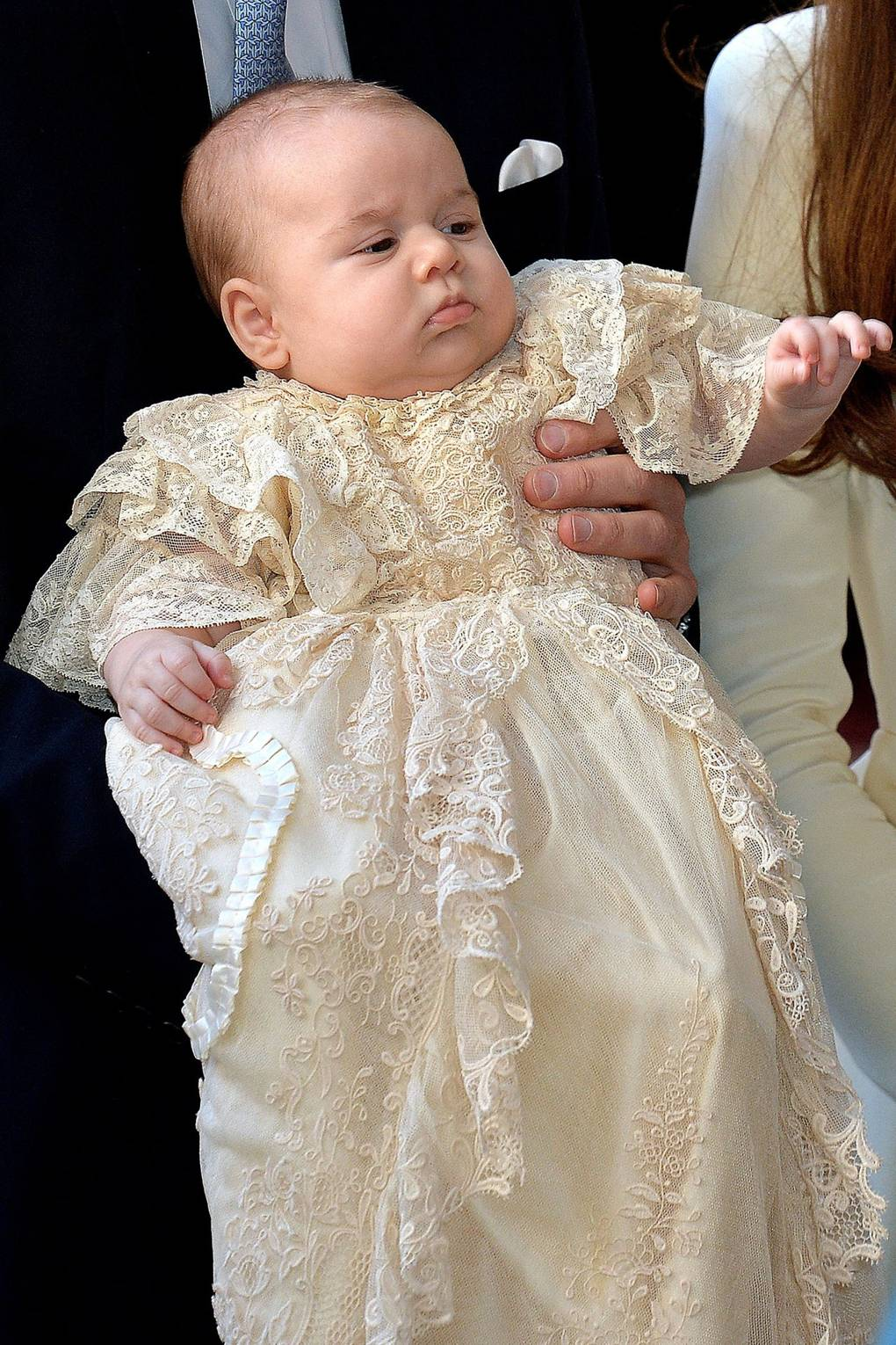 The Royal Christening Gown was dyed with Yorkshire Tea to make it the perfect shade