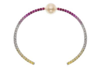 Pearl and sapphire bracelet, £3,100, Melanie Georgacopoulos