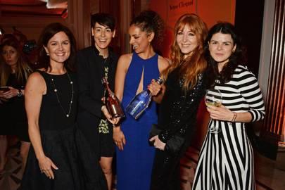 Clare Gilmartin, Sarah Wood, Cassandra Stavrou, Charlotte Tilbury and Alice Bentinck