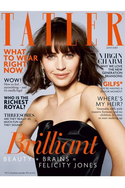 On the cover of Tatler's January 2014 issue