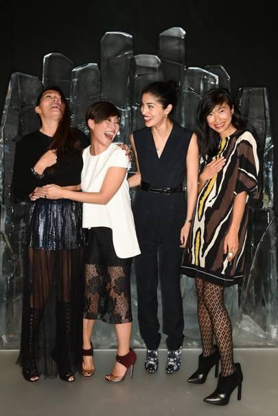 Tine Leung, Sandra Choi, Caroline Issa and Mimi Xu