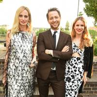 Lauren Santo Domingo, Derek Blasberg and Eugenie Niarchos