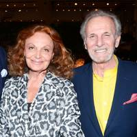 With Diane Von Furstenberg at the Fabergè Big Egg Hunt auction in 2014