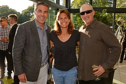 Chris Fowler, Amélie Mauresmo and Brad Gilbert