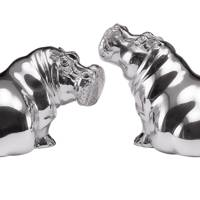 Sterling-silver salt & pepper shakers