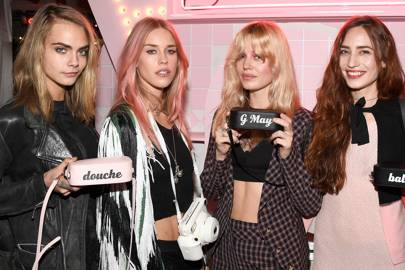 Cara Delevingne, Mary Charteris, Georgia May Jagger and Lizzy Jagger
