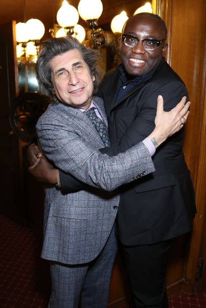 Gene Krell and Edward Enninful