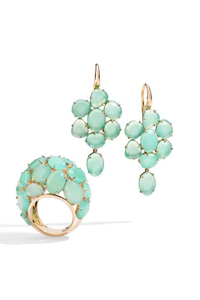 Rose-gold & chrysoprase ring, £8,950, by Pomellato