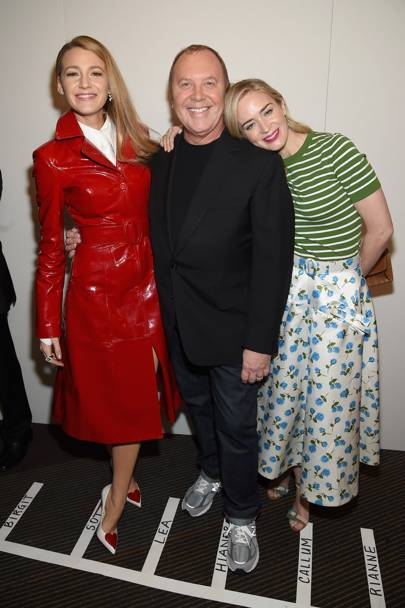 Blake Lively, Michael Kors and Emily Blunt
