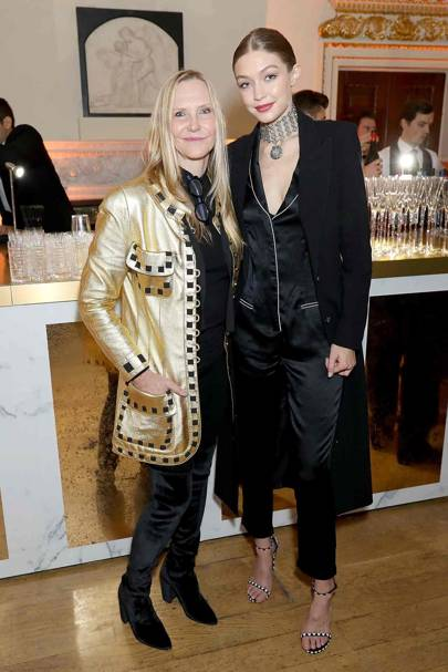 Susan Duffy and Gigi Hadid