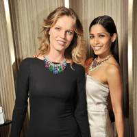 Eva Herzigova and Freida Pinto
