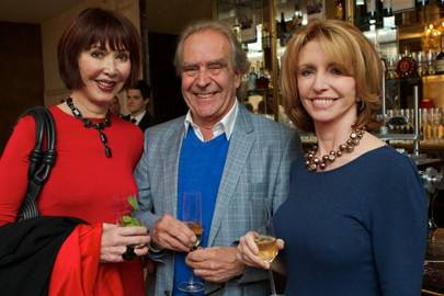 Carol Victor, Gerald Scarfe and Jane Asher