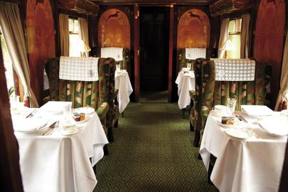 This glamorous train will take you to Highclere Castle in style