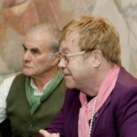 Oliver Cotton and Sir Elton John