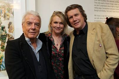 Nicky Haslam, Louise Fennell and Theo Fennell