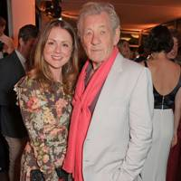 Louisa Parker Bowles and Sir Ian McKellen attend the ATG Summer Party at Kensington Palace Gardens in celebration of Sir Ian McKellen on September 8, 2019 in London, England