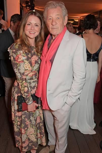 Louisa Parker Bowles and Sir Ian McKellen