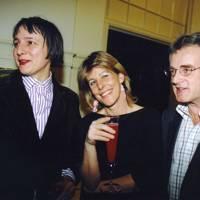 Mrs Charles Levinson, Mrs Nick Morris and Nick Morris