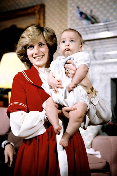 The Princess of Wales and Prince William, 1983