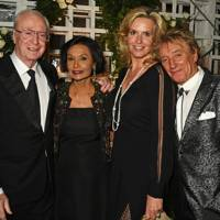 Sir Michael Caine, Lady Caine, Sir Rod Stewart and Lady Stewart