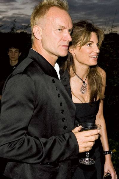 Gordon Sumner and Mrs Jemima Khan