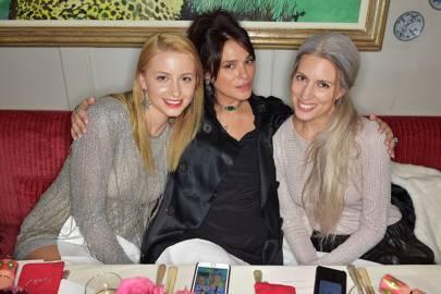 Isabel Getty, Celia Kritharioti and Sarah Harris