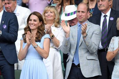 The Duke and Duchess of Cambridge at the men's singles final