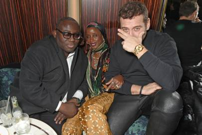 Edward Enninful, Zoe Bedeaux and Mert Alas