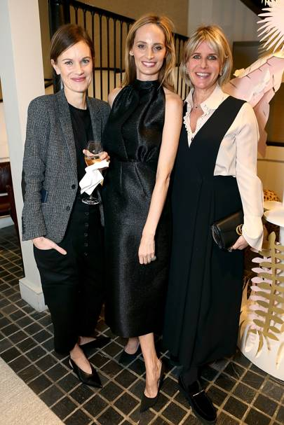 Jo Ellison, Lauren Santo Domingo and Fiona Golfar