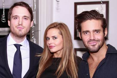 Fraser Carruthers, Agne Motiejunaite and Spencer Matthews