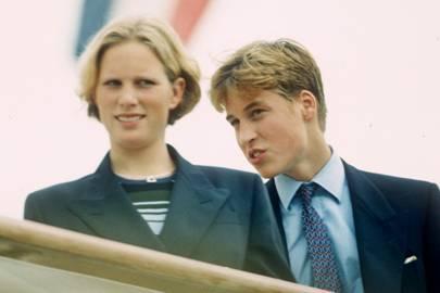 Zara Phillips and the Duke of Cambridge