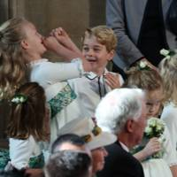 Savannah Phillips and Prince George