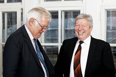 Richard Ingrams and Alan Johnson