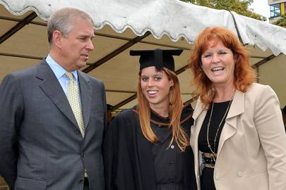 The Duke of York, Princess Beatrice and Sarah, the Duchess of York