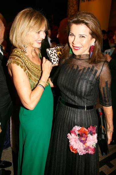 Countess Maya von Schonburg and Princess Firyal of Jordan